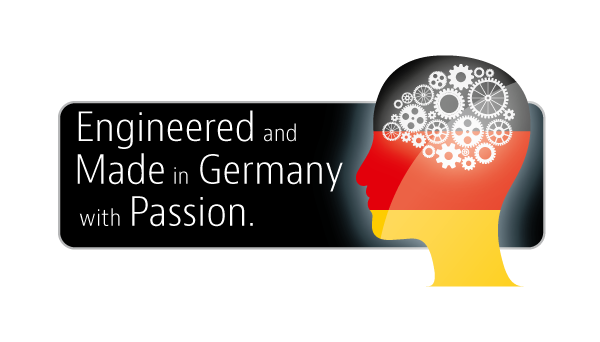 Developed, engineered and made in Germany.