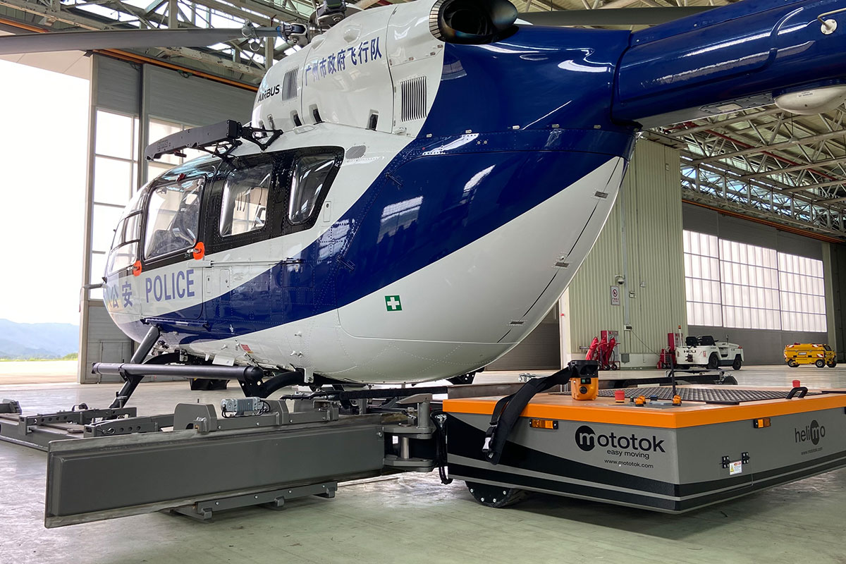 Mototok Helimo with an Airbus Helicopter
