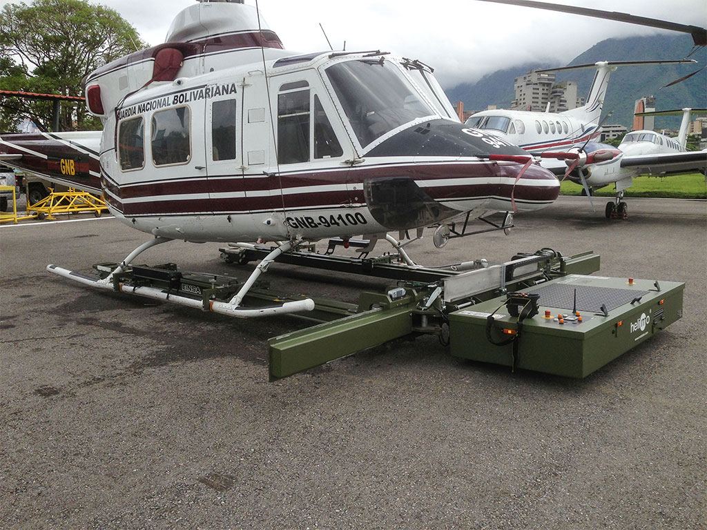 Skid-operated helicopters can also be moved easily and efficiently using the Helimo model.