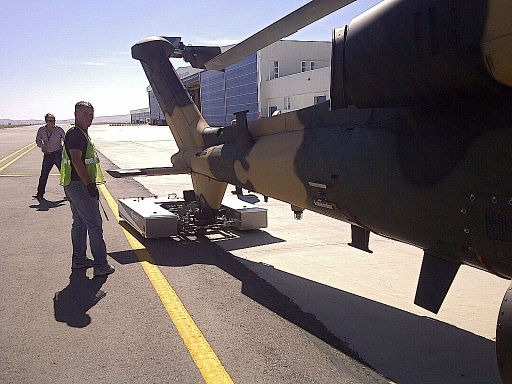 M-Series tows a Boeing AH64 Apache
