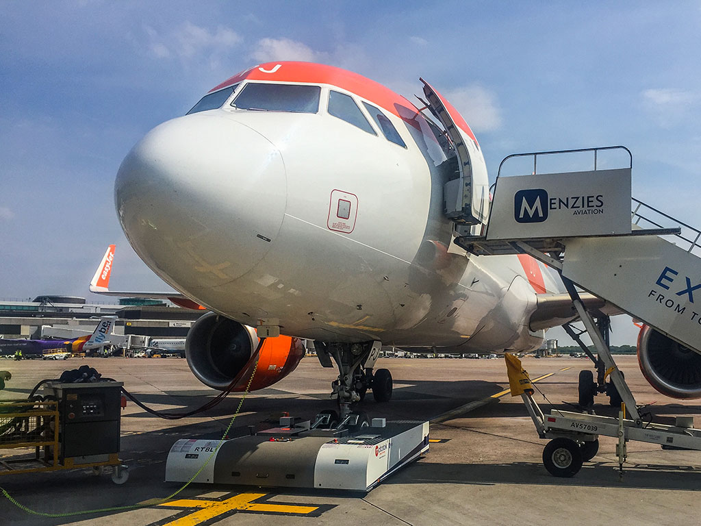 Pushback at Manchester Airport