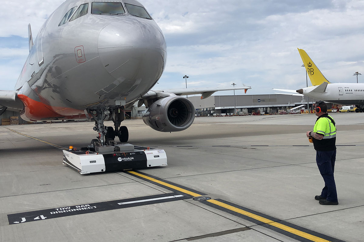 SPACER 8600 – Pushback at Melbourne Airport