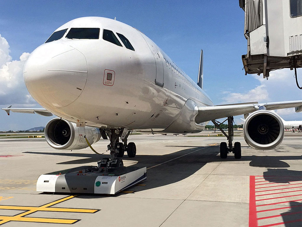 Pushback of an Airbus A320