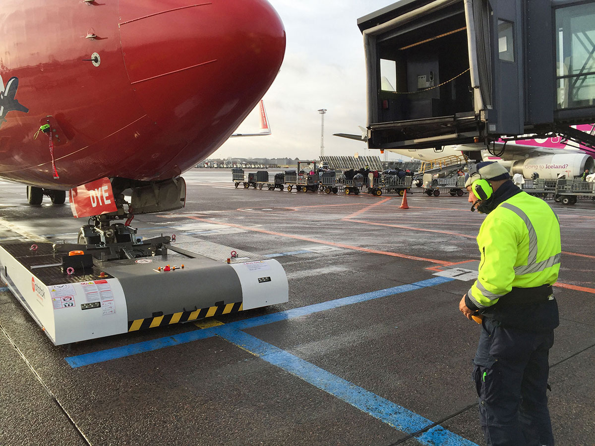 Pushback at Kopenhagen Airport
