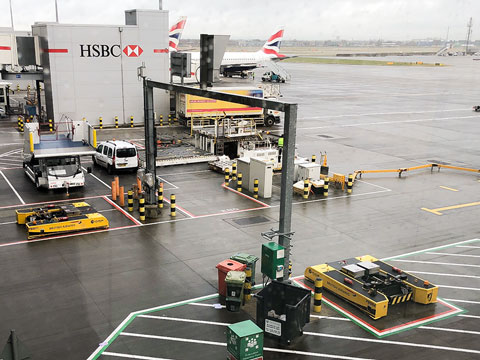 Spacer 8600 charging at London Heathrow T5