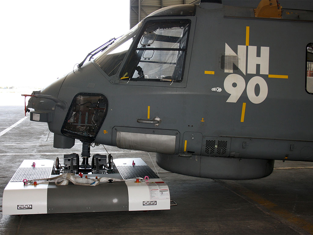 TWIN operates the NH90 on an Aircraft Carrier