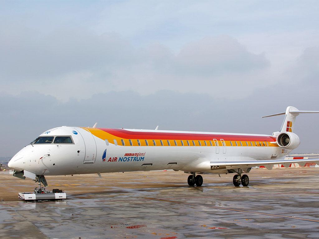 TWIN Bombardier Canadair CRJ1000 on the Apron