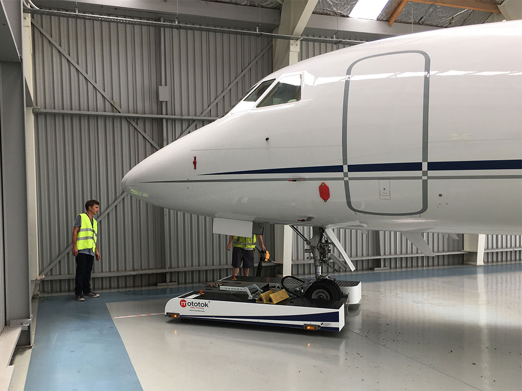 Park your Aircraft using the last corner of your hangar and safe space