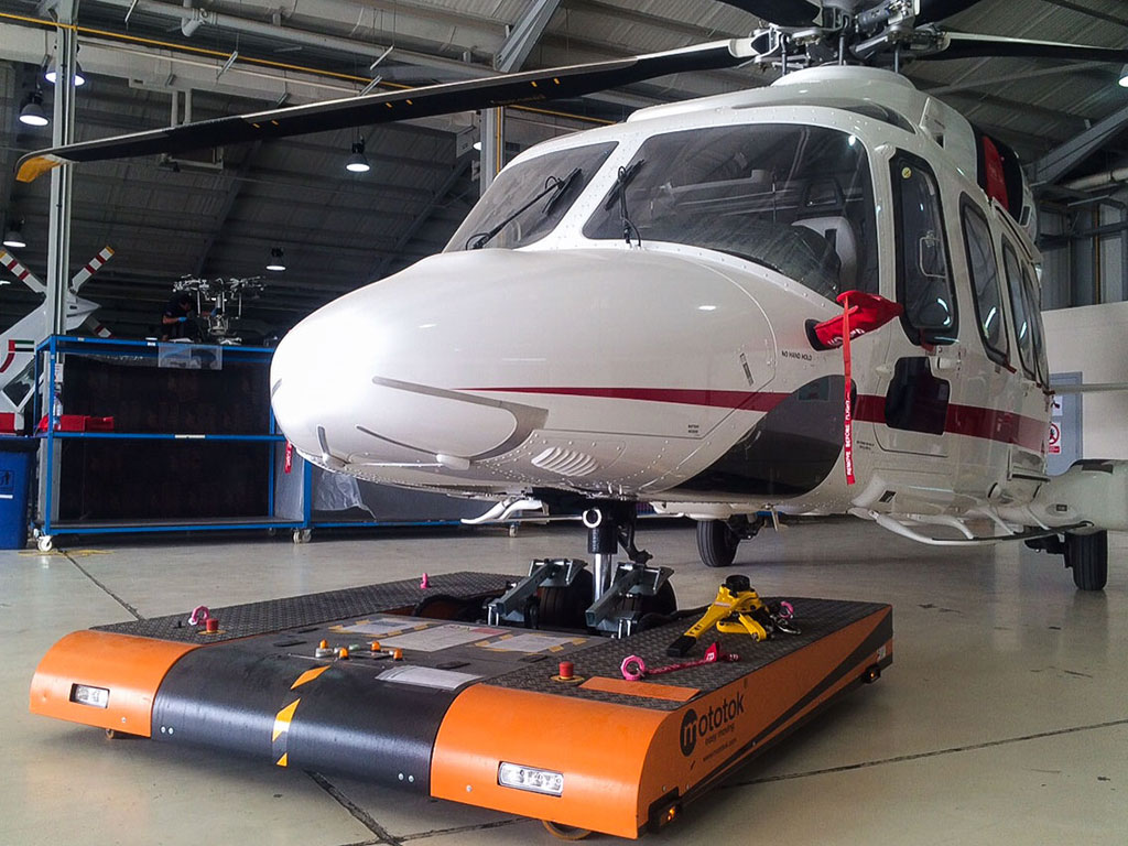 TWIN with an AgustaWestland 189 in the hangar