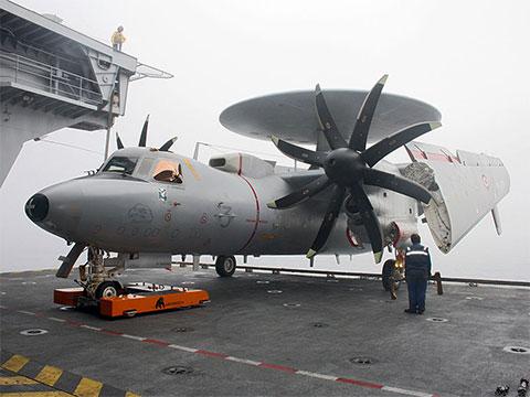TWIN on an AIrcraft Carrier with a Northrop Grumman